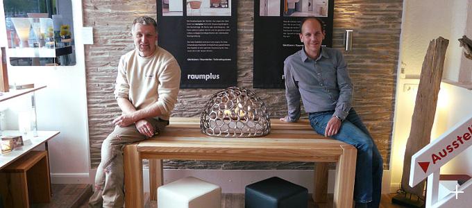 Die Inhaber: Tischlermeister Volker Bluhm und Christian Maas